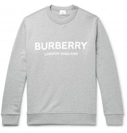 Burberry Logo-Print Mélange Loopback Cotton-Jersey Sweatshirt at Mr Porter