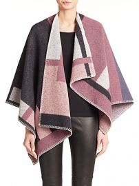 Burberry London - WoolCashmere Plaid Cape at Saks Fifth Avenue