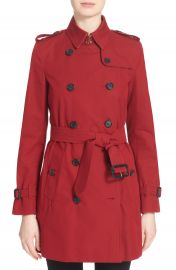Burberry London  Kensington  Double Breasted Trench Coat at Nordstrom