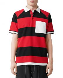 Burberry Men  x27 s Barley Striped Polo Shirt at Neiman Marcus