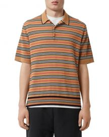 Burberry Men  x27 s Beaford Striped Wool Polo Shirt at Neiman Marcus