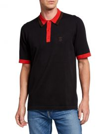 Burberry Men  x27 s Camford Polo Shirt  Black at Neiman Marcus