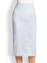 Burberry Prorsum - Lace Pencil Skirt at Saks Fifth Avenue