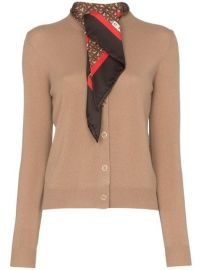 Burberry Scarf Detail Knitted Cashmere Cardigan - Farfetch at Farfetch