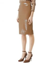 Burberry Slim Vinyl Side-Zip Skirt at Neiman Marcus