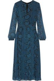 Burberry Snake-print silk-chiffon midi dress at Net A Porter