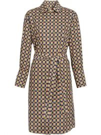 Burberry Tiled Archive Print Cotton Shirt Dress - Farfetch at Farfetch