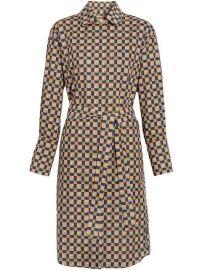 Burberry Tiled Archive Print Cotton Shirt Dress - Farfetch at Farfetch
