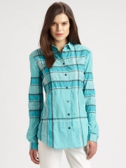 Burberry checked shirt at Saks Fifth Avenue