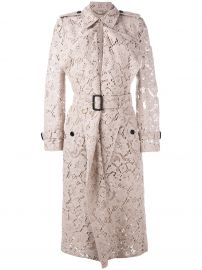 Burberry lace trench coat at Farfetch