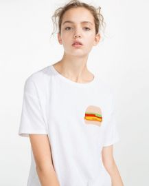 Burger T-shirt at Zara