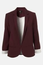 Burgundy blazer like Quinns at Nordstrom