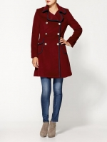 Burgundy coat by Pink Martini at Piperlime