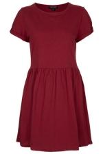 Burgundy dress at Topshop at Topshop