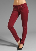 Burgundy jeans like Pennys at Revolve