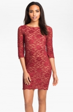Burgundy lace dress at Nordstrom