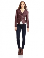 Burgundy leather jacket by Fillmore at Amazon