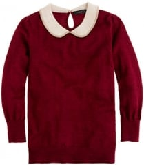 Burgundy peter pan collar sweater at J. Crew