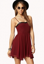 Burgundy sweetheart dress at Forever 21 at Forever 21