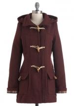 Burgundy toggle jacket at Modcloth at Modcloth