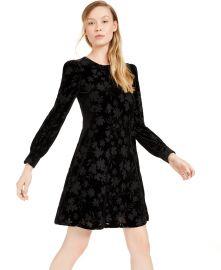 Burnout Velvet Pattern A-Line Dress at Macys