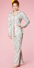 Butterflies Print Stretch Pajamas in Plus Size at BedHead