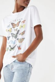 Butterfly Crew Neck Tee at Urban Outfitters