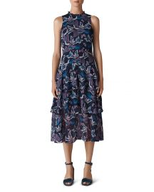 Butterfly-Print Tiered Midi Dress at Bloomingdales
