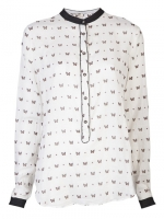 Butterfly blouse on Parks and Rec at Farfetch