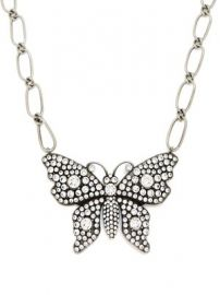 Butterfly crystal-embellished necklace at Matches