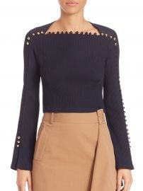 Button Detail Ribbed Top by Phillip Lim 3.1 at Nordstrom