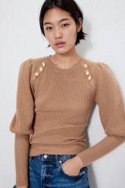 Button Detail Sweater by Zara at Zara