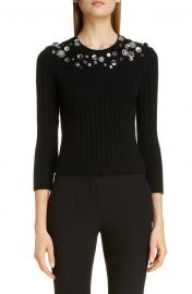 Button Detail Wool Blend Sweater at Nordstrom