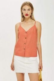 Button Down Cami Top by Topshop at Topshop