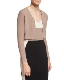 Button-Front Cropped Cardigan by Narciso Rodriguez at Neiman Marcus