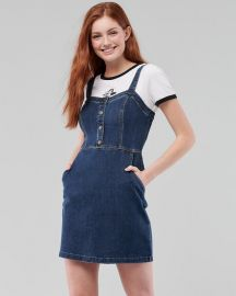 Button Front Mini Dress by Hollister at Hollister
