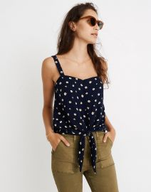 Button-Front Tie Tank in Daisy Dots by Madewell at Madewell