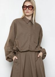 Button-Up Drawstring Shirt by Frankie Shop at Frankie Shop