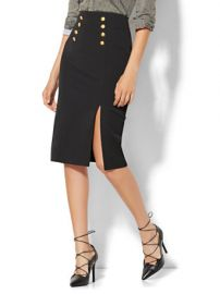 Button accent skirt at New York and Co