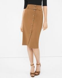 Button front pencil skirt at White House Black Market
