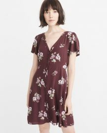 Button-up Mini Dress by Abercrombie & Fitch at Abercrombie & Fitch