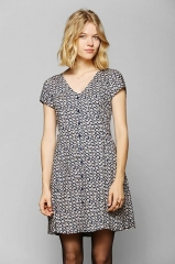 Button up swing dress at Urban Outfitters