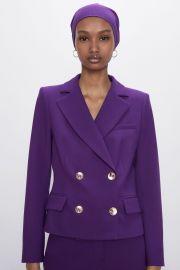 Buttoned Cropped Blazer by Zara at Zara