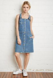 Buttoned Denim Overall Dress  Forever 21 - 2000154230 at Forever 21