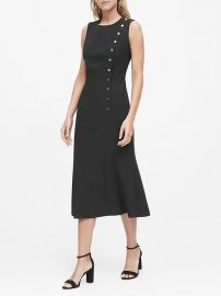 Buttoned Midi Dress by Banana Republic at Banana Republic
