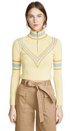 By any Other Name Cropped Zip Cashmere Pullover at Shopbop