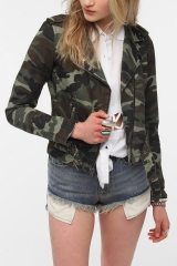 ByCorpus Camo Moto Jacket at Urban Outfitters