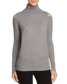 C by Bloomingdale  39 s Cashmere Turtleneck Cold-Shoulder Sweater grey at Bloomingdales