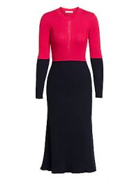 C  dric Charlier - Colorblock Rib-Knit Dress at Saks Fifth Avenue