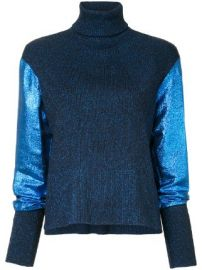 C  dric Charlier metallic knit turtleneck jumper at Farfetch